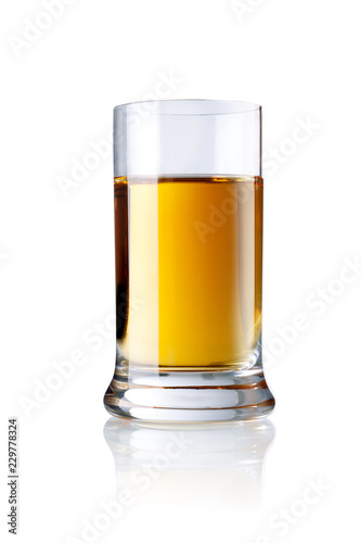 glass of spirit , isolated on white