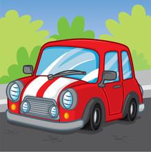 Mini Car Cartoon, Cartoon Cute