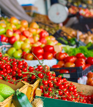 Cherry Tomatoes Vegetable Stall Market