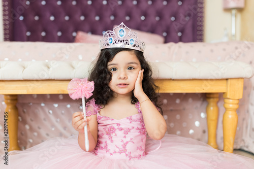 Fotografie, Obraz Little Girl In Princess Dress