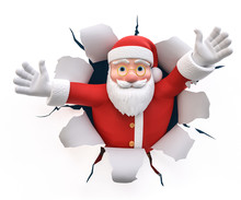 3D Illustration Weihnachtsmann...