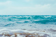 sea surface summer wave background. Natural tropical water Paradise. Cube nature relax.