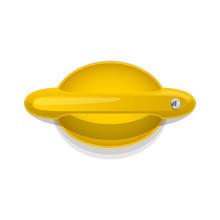 Yellow Car Door Handle