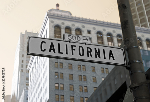 Famous California street in the city of San Francisco Canvas Print