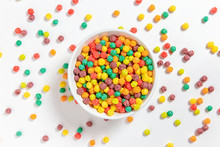 Bowl Of Colorful Cereal Balls ...