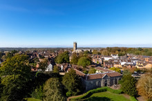 Aerial View Of Warwick, Warwickshire, United Kingdom