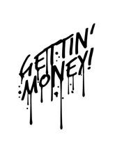 Tropfen Graffiti Symbol Dollar...