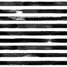 Black And White Watercolor Striped Seamless Pattern Texture Background