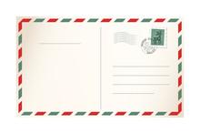 Letter For Santa Claus - Template Postcard
