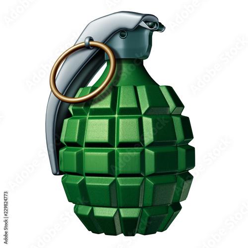 Valokuva  Grenade Isolated On a White Background