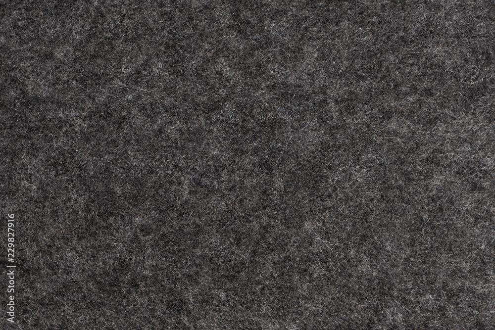 Fototapety, obrazy: Dark Grey felt texture. Closeup view.
