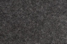 Dark Grey Felt Texture. Closeup View.