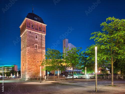 Chemnitz Sachsen roter Turm am Marktplatz Zentrum