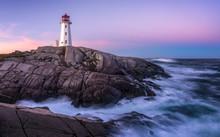 Peggys Point Lighthouse After Sunrise