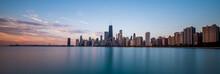 Chicago Cityscape At Sunrise