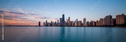 Obraz na płótnie Chicago cityscape at sunrise