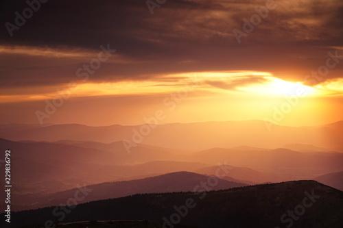 Fototapeta Zachód Babia Góra obraz