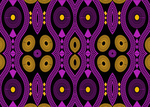 African Print Fabric, Ethnic Handmade Ornament For Your Design, Ethnic And Tribal Motifs Geometric Elements. Vector Texture, Afro Textile Ankara Fashion Style. Pareo Wrap Dress, Batik Color Style