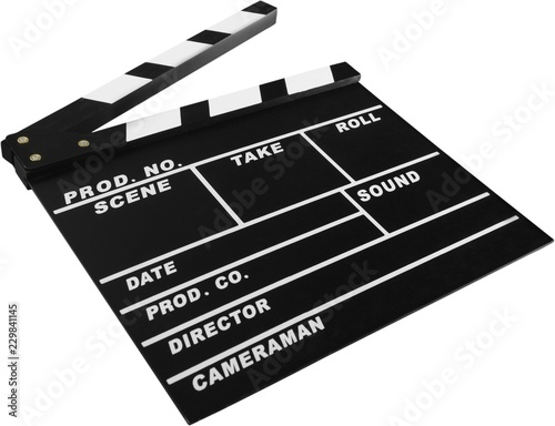 Valokuvatapetti Clapperboard clapper clapper board clapperboard slate film