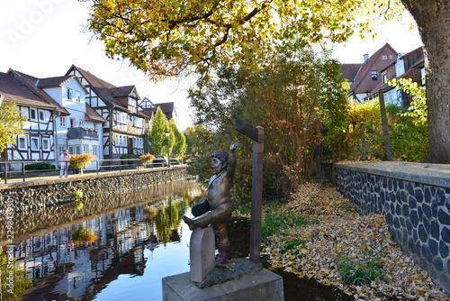 Photo Schrittsteine über die Lauter in Lauterbach (Hessen)
