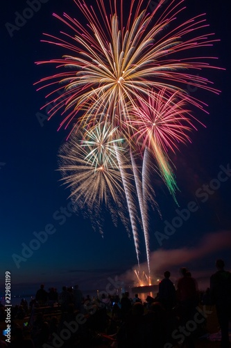 Keuken foto achterwand Nasa Fireworks for 4th of July in Superior, Wisconsin on the Shores of Lake Superior