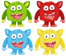 Set Of Funny Monster