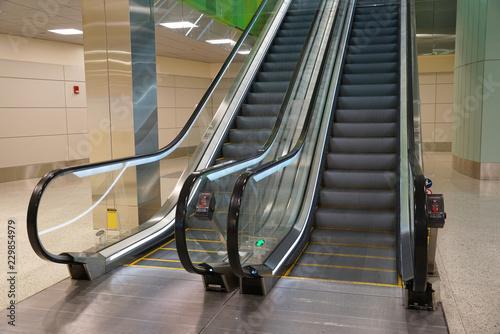 Fotografie, Obraz close up on escalator in the airport