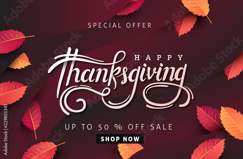 Thanksgiving Day Banner Background Celebration Quotation For Card Cool Quotation Of The Day