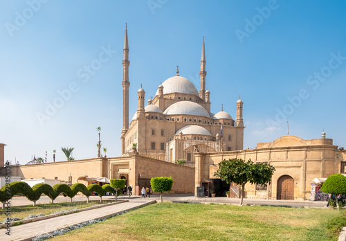 Alabaster Mosque Mohammed Ali at Citadel in Cairo, Egypt. Wallpaper Mural