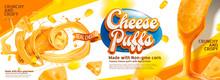 Cheese Puffs Banner Ads