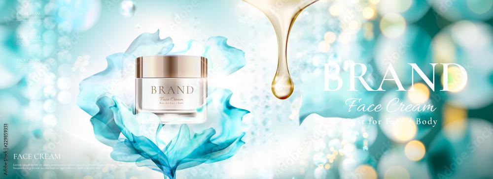 Fototapety, obrazy: Skin care face cream ads