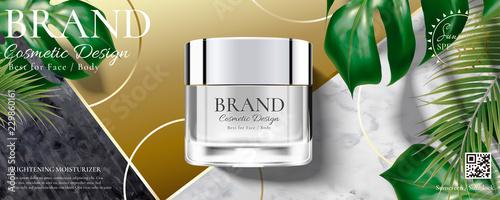 Fototapeta Cosmetic cream jar ads obraz