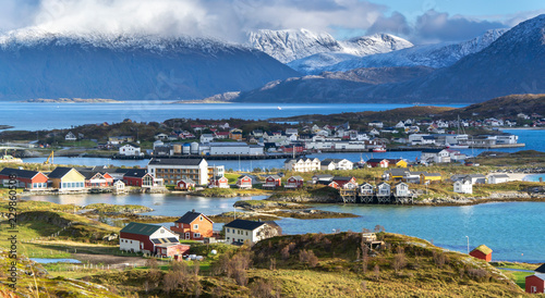 Valokuva  Sommaroy, a populated island located about 36 kilometres west of the city of Tromso in the western part of Troms county, Norway
