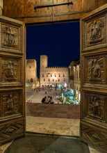 Todi (Umbria, Italy) - The Suggestive Medieval Town Of Umbria Region, In A Summer Evening.