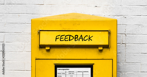 Feedback Briefkasten Canvas Print