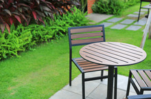 Garden Furniture. Wood Table A...