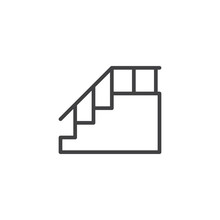 Stairs With Handrail Outline I...
