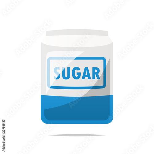 Fototapeta Bag of sugar vector isolated obraz