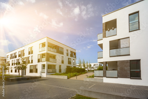 Modern residential area with apartment buildings in a new urban development Fototapet