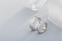 Pair Of White Gold Wedding Rin...