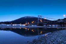 Revelstoke Columbia River Dusk Winter