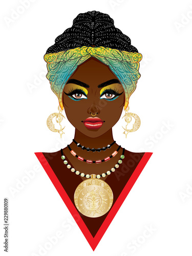 Cuadros en Lienzo African woman in turban