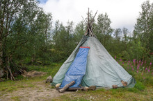 A Traditional Sami Tent In Lapland