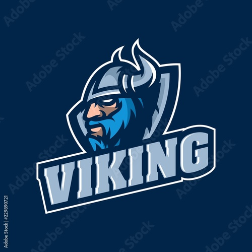 Photo  Viking mascot gaming logo