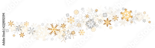 Photo gold snowflakes decor
