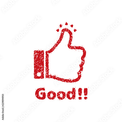 rubber stamp icon (for teachers using at school) / Good!! (thumbs up) Fototapet