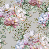 Background of roses. Seamless pattern.  - 229898716
