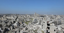 City Of Aleppo In Aerial View,...