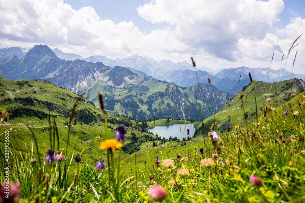 Fototapety, obrazy: Górskie jezioro w Allgäu