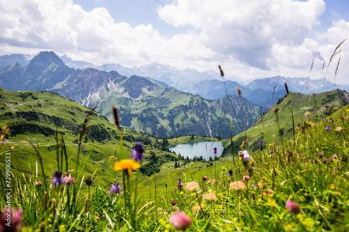 Canvastavla  Seealpsee in den Allgäuer Bergen - Bergsee im Allgäu